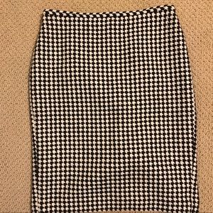 Houndstooth Wool Pencil Skirt 4P
